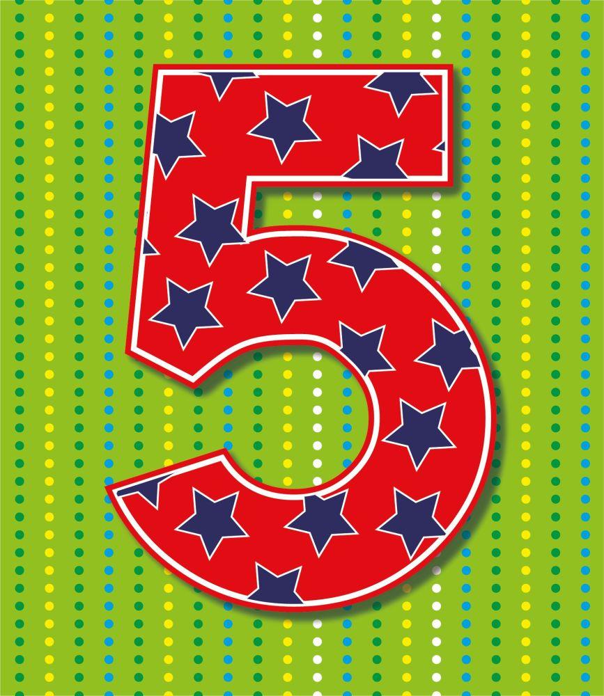 5th Birthday Cards - AGE 5 Birthday CARD - 5th BIRTHDAY Card BOY - STARS &