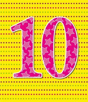 10th Birthday Cards - AGE 10 Birthday CARD - 10th BIRTHDAY Card GIRL - COLOURFUL Birthday CARD - 10th BIRTHDAY Card For GRANDDAUGHTER - Daughter