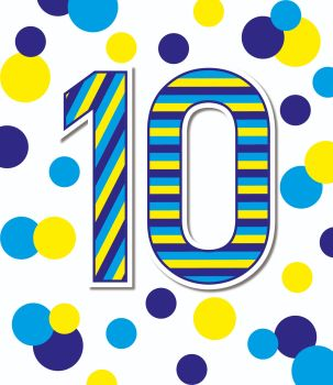 10th Birthday Cards - AGE 10 Birthday CARD - BIRTHDAY Cards For KIDS - BIRTHDAY Cards FOR Daughter - SON - Grandson - GRANDDAUGHTER - NIECE - Nephew