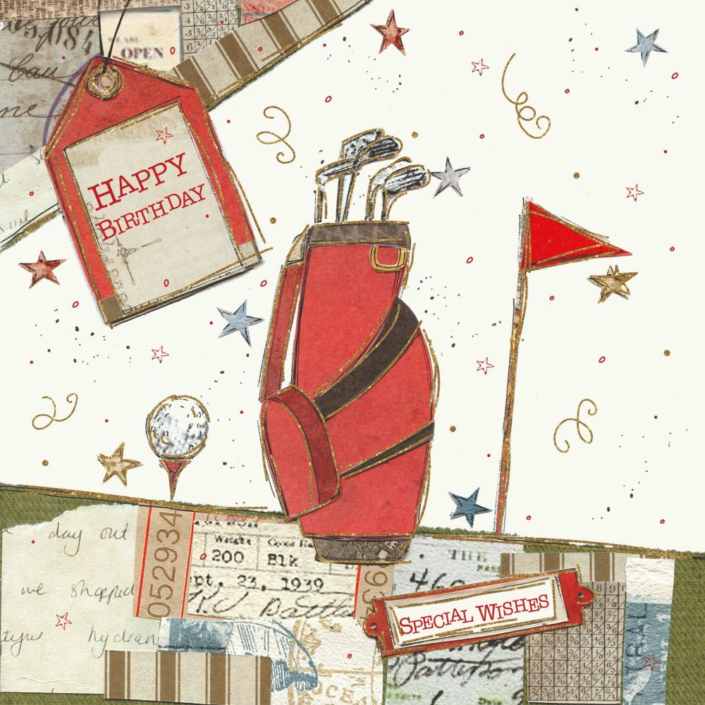 Golf Birthday Cards - HAPPY Birthday - SPECIAL Wishes - BIRTHDAY Wishes For