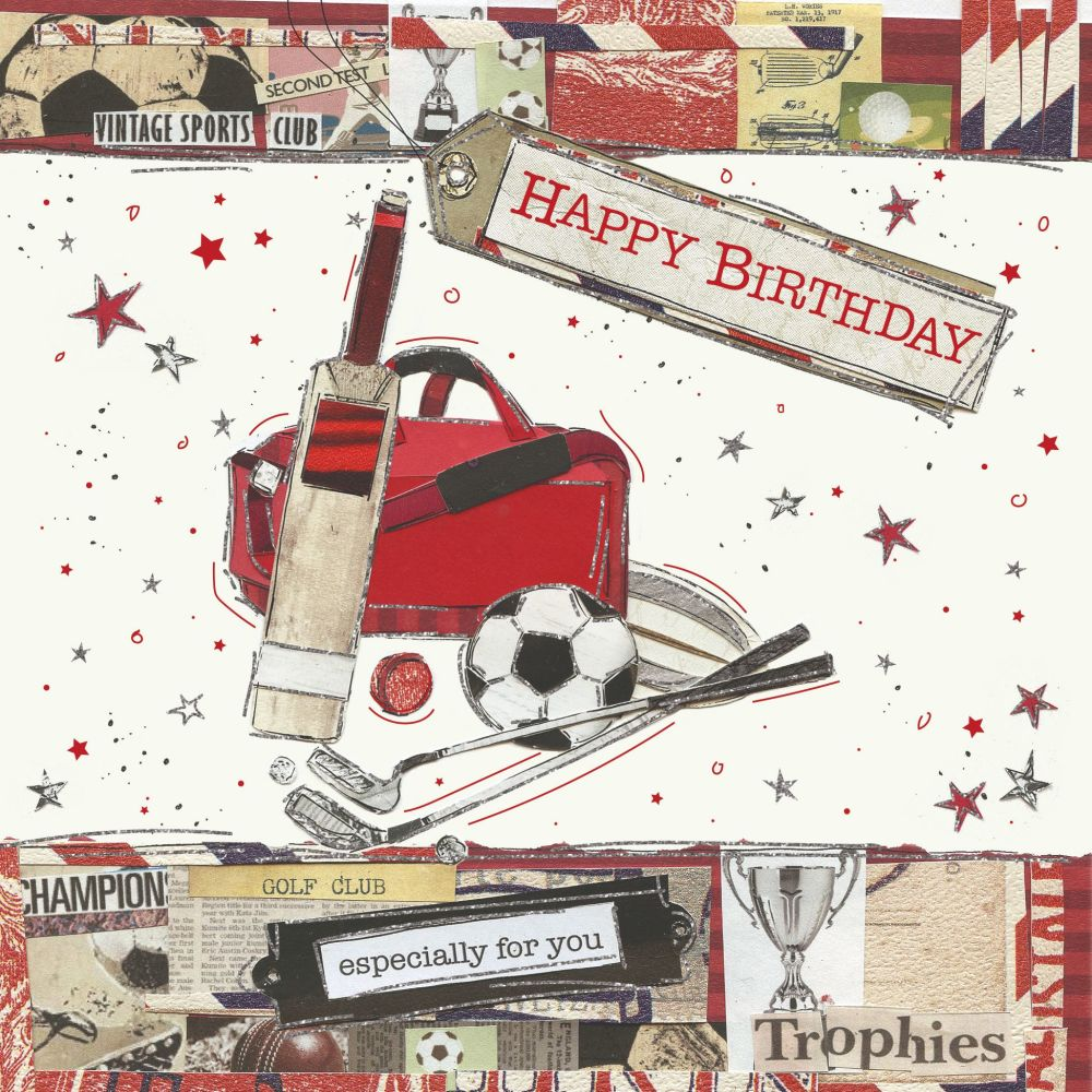 Sports Birthday Cards - HAPPY BIRTHDAY - Especially For YOU - Sport BIRTHDA