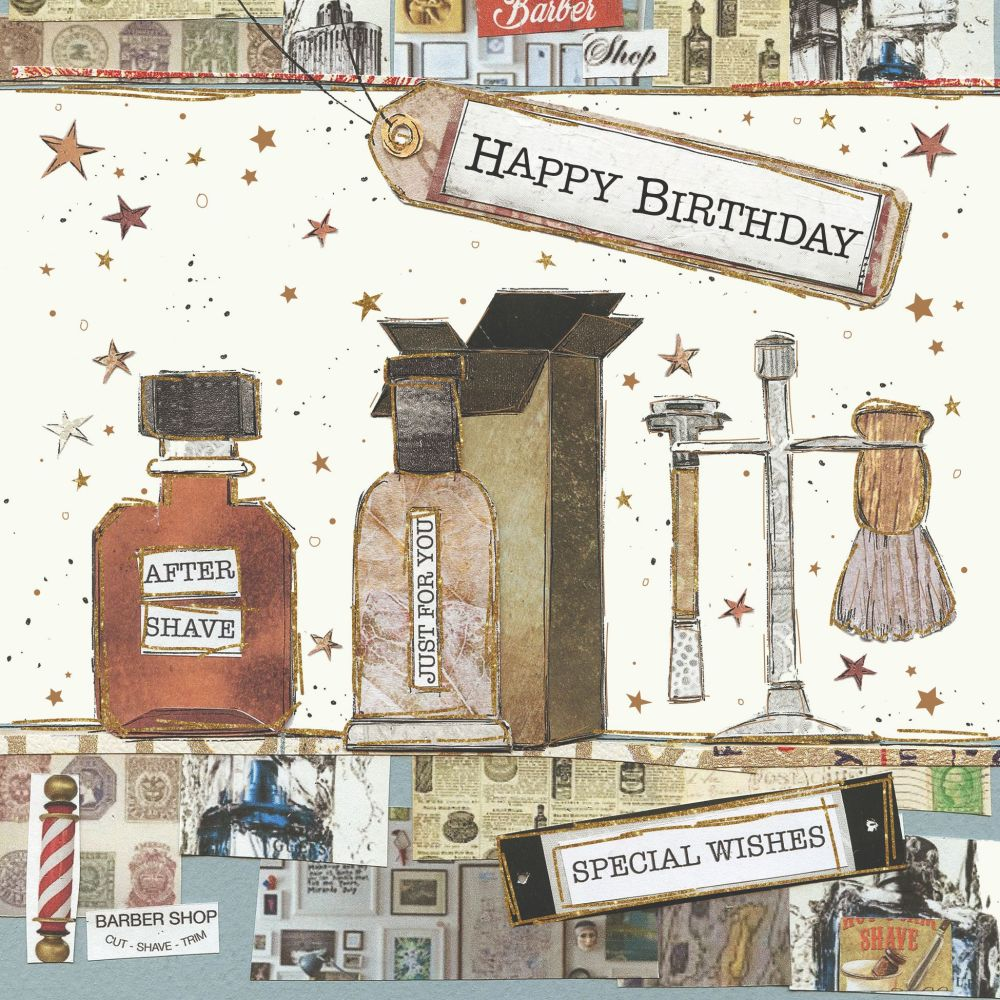 Barber Greeting Cards - HAPPY BIRTHDAY - Special WISHES - BARBER Shop BIRTH