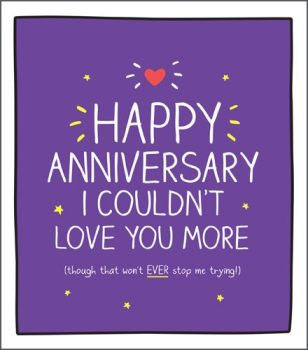 Anniversary Cards - COULDN'T Love YOU More - WEDDING Anniversary CARDS - Anniversary CARDS For HUSBAND - Wedding ANNIVERSARY Cards For WIFE