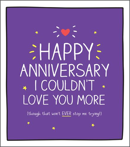Anniversary Cards - COULDN'T Love YOU More - WEDDING Anniversary CARDS - An