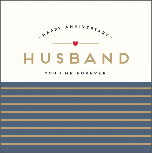Anniversary Cards - HUSBAND You & Me FOREVER - Anniversary CARDS For HUSBAN