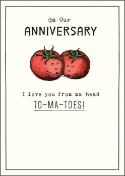 Funny Anniversary Cards - LOVE You From MA Head TO-MA-TOES - Anniversary CARDS - WEDDING Anniversary CARDS For WIFE - Husband - FRIENDS