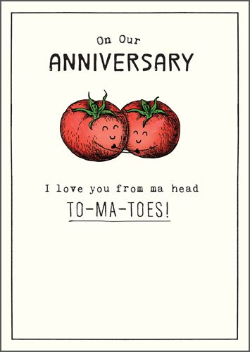 Funny Anniversary Cards - LOVE You From MA Head TO-MA-TOES - Anniversary CA