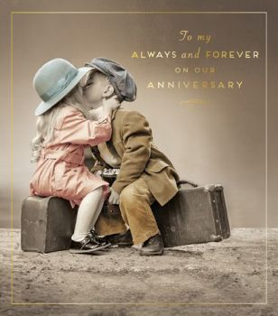 Anniversary Cards - To My ALWAYS & Forever On OUR ANNIVERSARY- LOVING Wedding Anniversary CARD - Anniversary CARD For WIFE - Husband - PARTNER