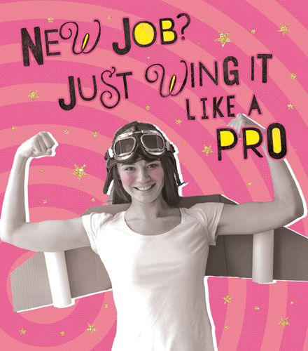 Funny New Job Cards - JUST Wing It LIKE A PRO - New JOB Cards - RETRO Style