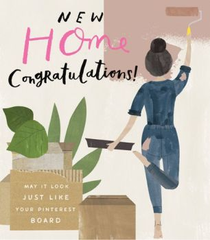 Funny New Home Cards - MAY It LOOK Just LIKE Your PINTEREST Board - NEW Home CARDS - Congratulations CARDS - New HOME Card FOR Female - BEST Friend -