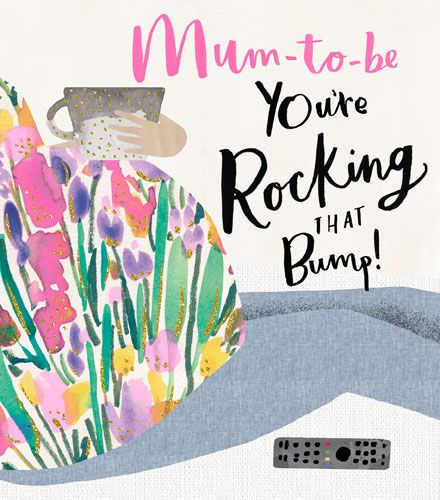 Mum To Be Card - You're ROCKING That BUMP - Funny MUM To Be CARD - PRETTY M