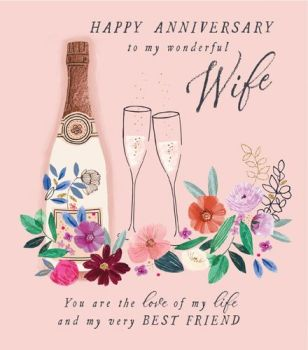 Anniversary Cards For Wife - YOU Are The LOVE Of My LIFE - My VERY Best FRIEND - Wedding ANNIVERSARY Cards - BEAUTIFUL Wife ANNIVERSARY Card