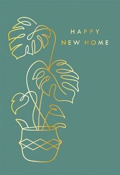 New Home Cards - HAPPY New HOME - FOILED Greeting CARD - RETRO Style Card - HOUSEWARMING Cards - NEW House CARD