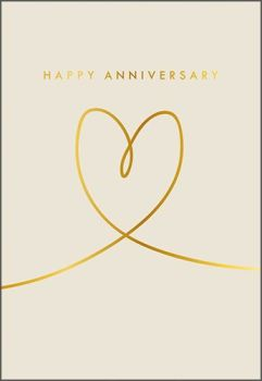 Anniversary Cards - HAPPY ANNIVERSARY - Stylish WEDDING Anniversary CARD - LOVE Heart ANNIVERSARY Card - ANNIVERSARY Cards FOR Husband - WIFE