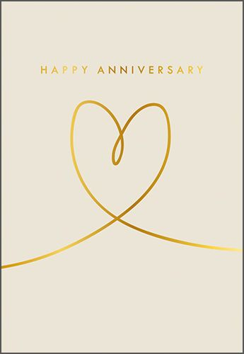 Anniversary Cards - HAPPY ANNIVERSARY - Stylish WEDDING Anniversary CARD -