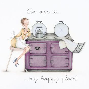 Birthday Card - An AGA Is My HAPPY Place - AGA Birthday CARD - Birthday CARD For AGA Lovers - BIRTHDAY Card FOR Mum - GRAN - Wife