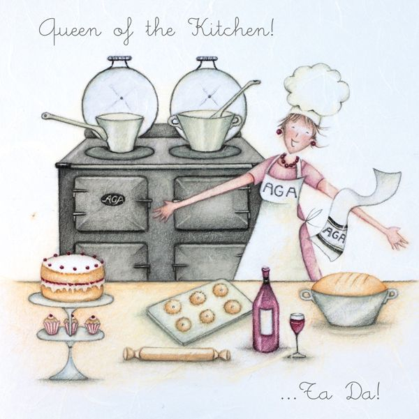 Birthday Card - QUEEN Of The KITCHEN - AGA Birthday CARD - Birthday CARD Fo