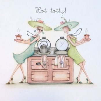 Birthday Card - HOT TOTTY - AGA Birthday CARD - Birthday CARD For AGA Lovers - Funny BIRTHDAY Card FOR FRIEND - Bestie