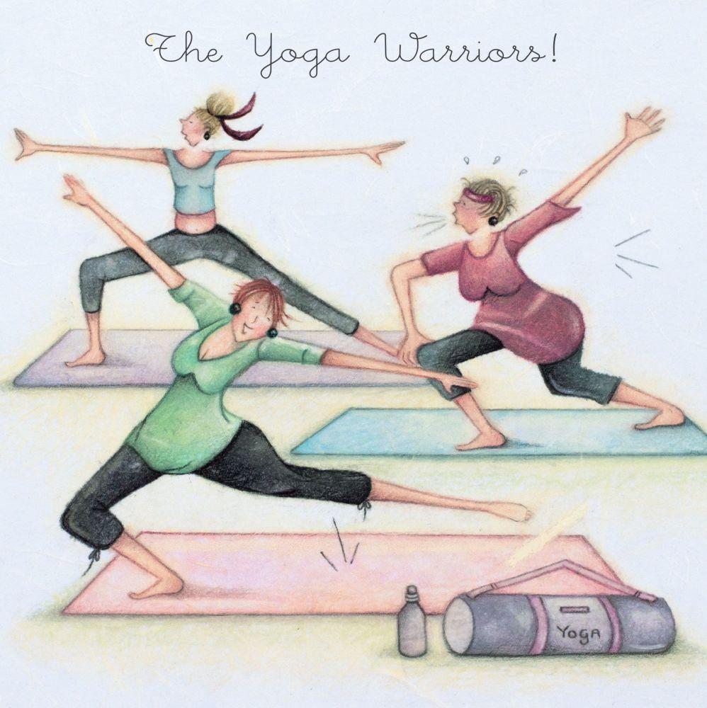 Yoga Birthday Cards - The YOGA WARRIORS - FUNNY Yoga Birthday CARDS - Funny