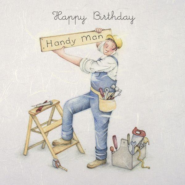 Handyman Cards - HAPPY Birthday HANDY Man - MALE Happy Birthday CARD - Funn