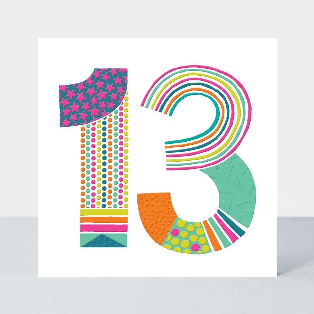 13th Birthday Cards - Teenager BIRTHDAY Cards - 13th BIRTHDAY Card FOR Girl