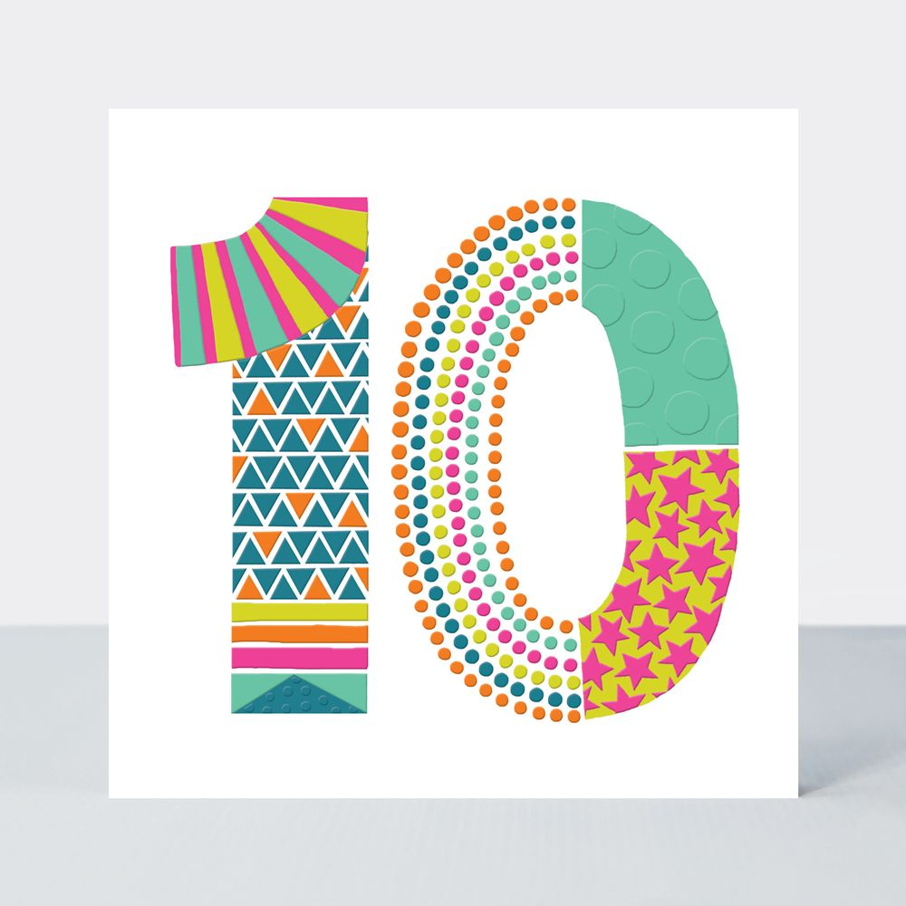 10th Birthday Cards - Age BIRTHDAY Cards - 10th BIRTHDAY Card FOR Girl - 10