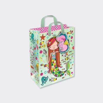Mermaid Gift Bags - MERMAID GIFT Bag SMALL - Mermaid PARTY Bags - SMALL Mermaid GIFT BAG With TAG - Mermaid BIRTHDAY Gift BAGS - Pretty MERMAID Bag