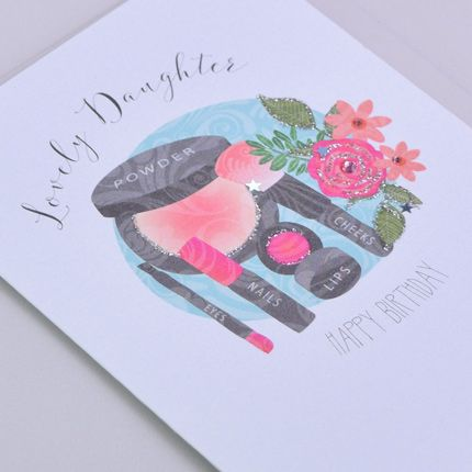 Lovely Daughter Birthday Card - HAPPY BIRTHDAY - Pretty BIRTHDAY Card FOR D
