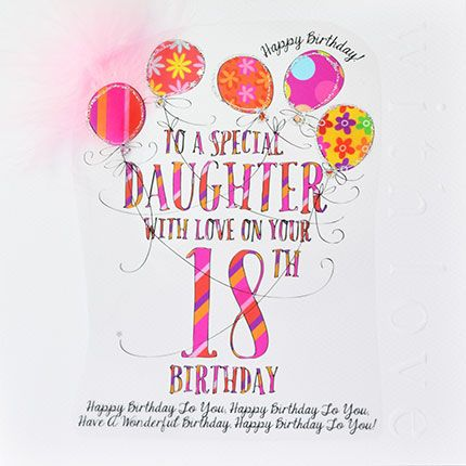 Surprising 18Th Birthday Cards To A Special Daughter Luxury Boxed 18Th Funny Birthday Cards Online Inifodamsfinfo