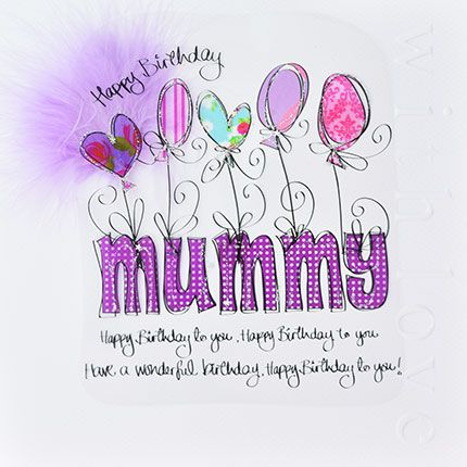 Mum Birthday Cards - HAPPY Birthday MUMMY - LUXURY Boxed BIRTHDAY Card - MU