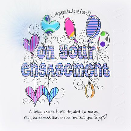 Engagement Cards - CONGRATULATIONS On Your ENGAGEMENT - LARGE Luxury BOXED