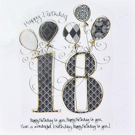 18th Birthday Cards - HAPPY Birthday To YOU - LUXURY Boxed 18th BIRTHDAY Ca