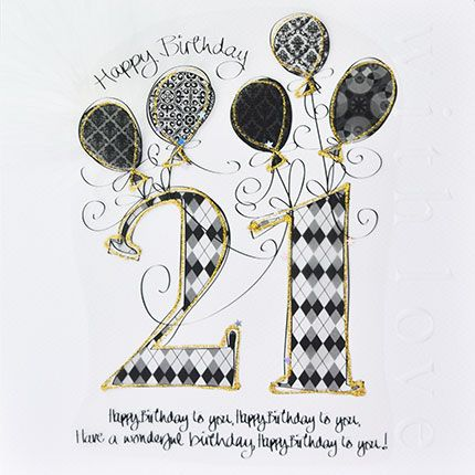 21st Birthday Cards - LUXURY Boxed 21st BIRTHDAY Card - Happy BIRTHDAY To Y