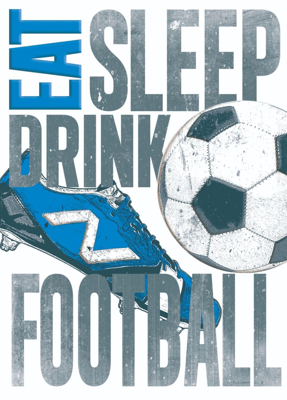 Football Birthday Cards - EAT Drink Sleep FOOTBALL - Boys Birthday CARDS -