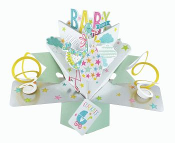Baby Shower Cards - BABY Shower Pop Up CARD - NEW Baby Keepsake - 3D Greeting CARDS - Baby SHOWER Pop UP CARD - Baby SHOWER Card - GIRL - Boy