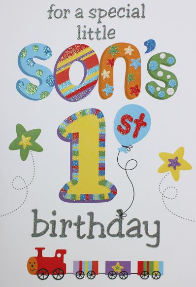 1st Birthday Cards - FOR A SPECIAL Little SON'S 1st Birthday - 1st BIRTHDAY