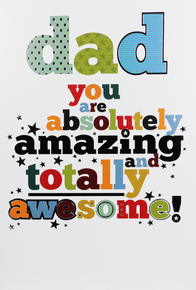 Dad Birthday Cards - ABSOLUTELY Amazing & TOTALLY Awesome - BIRTHDAY Cards
