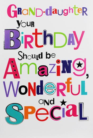 Granddaughter Birthday Cards - Your BIRTHDAY Should Be AMAZING - Birthday C