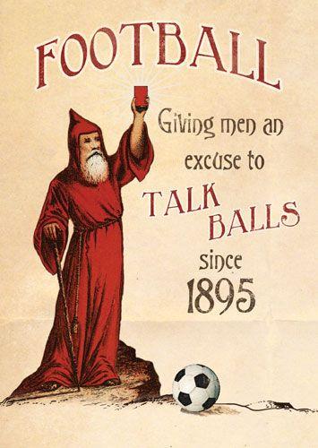 Funny Football Birthday Card - TALK Balls Since 1895 - FOOTBALL Birthday Ca