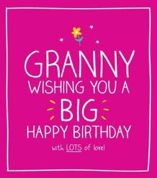 Granny Birthday Cards - WITH Lots Of LOVE -Grandma Birthday CARDS - Birthday CARD For GRANNY - Grandparents BIRTHDAY Cards - FUN Card FOR Granny