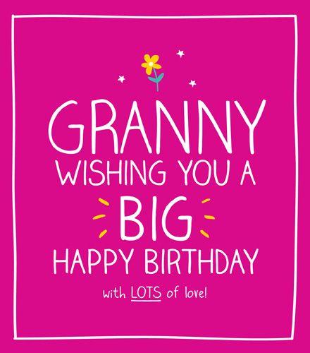 Granny Birthday Cards - WITH Lots Of LOVE -Grandma Birthday CARDS - Birthda