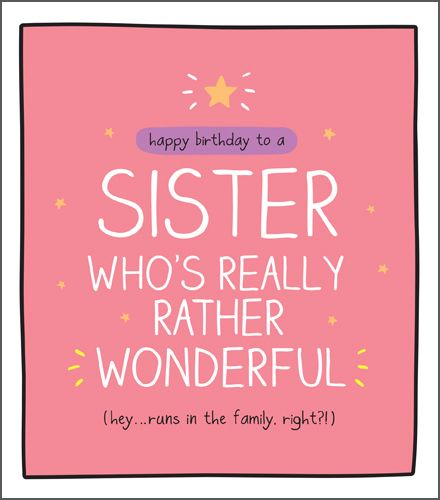 Funny Birthday Card For Sister - RUNS In The FAMILY Right - SISTER Birthday