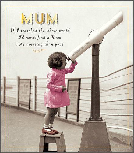 Mum Birthday Cards - IF I Searched The WHOLE World - AMAZING Mum BIRTHDAY C