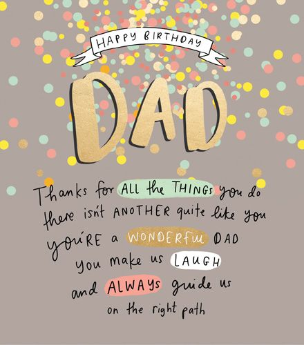 Happy Birthday Dad - YOU Make Us LAUGH - Birthday CARDS For DAD - Thoughtfu