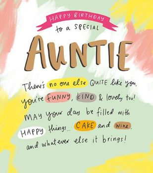 Special Auntie Birthday Cards - YOU'RE Funny KIND & Lovely - BIRTHDAY Cards For AUNTIE - Auntie BIRTHDAY Cards - AUNT Birthday CARD