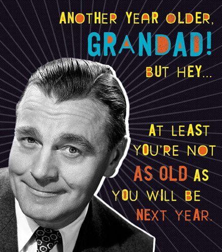 Another Year Older Grandad - Funny GRANDAD Birthday CARD - RETRO Style Birt