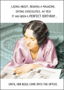 Funny Birthday Cards - A PERFECT Birthday - Funny CARDS About WORK - OFFICE Birthday CARD - Birthday CARDS For Female WORK Colleagues