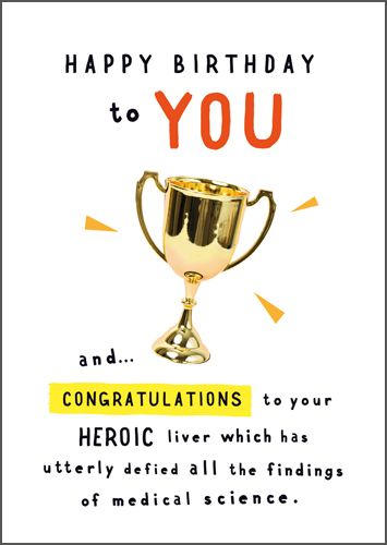 Funny Happy Birthday Card - DEFIED All The FINDINGS Of Medical SCIENCE - Hu