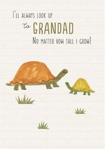 Grandad Birthday Cards - I'LL Always LOOK Up To YOU - Grandad CARD - TORTOI