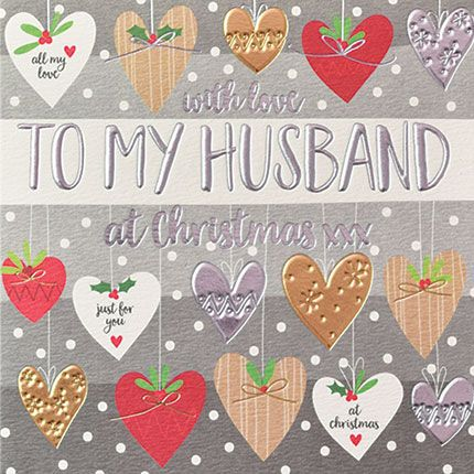 Husband Christmas Cards - With LOVE To My HUSBAND - Christmas CARD For HUSB